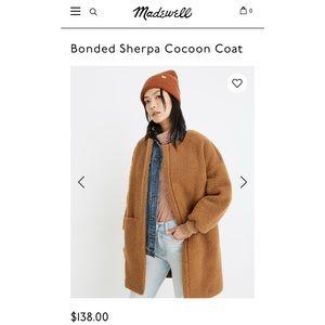 Madewell Bonded Sherpa Teddy Coat